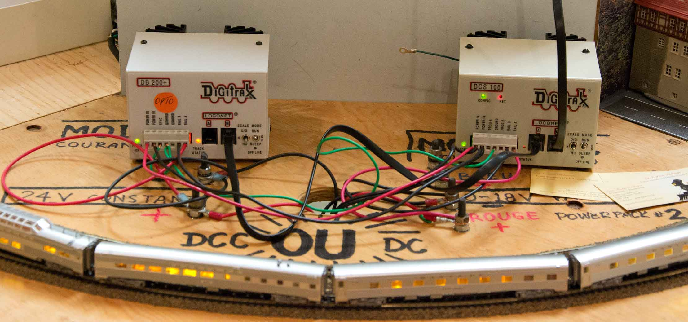 Boosters for DCC send data and power to trains. on