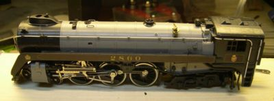 Fresh from the backshop, a modernised steam locomotive